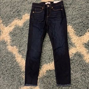 LOFT frayed ankle jeans - Size 2P never worn, NWT